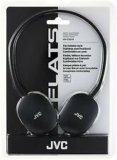 JVC HA-S160-B-E Flats Foldable Style Headphones Black BRAND NEW Free Post UK
