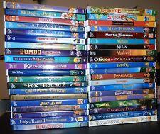 40 LOT DISNEY KID DVD Aristocats Dumbo Fox Hound Lion King Mermaid Pooh LIKE NEW