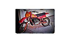 1981 Maico 490 Bike Motorcycle A4 Retro Metal Sign Aluminium
