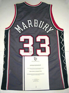 STEPHON MARBURY AUTOGRAPHED JERSEY SIZE 44, NEW JERSEY NETS  AUTHENTICITY LETTER