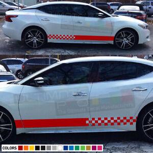 Sticker Decal stripe kit for Nissan Maxima spoiler light racing bonet skirt head