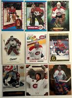 Patrick Roy 9 Card Lot Upper Deck O-Pee-Chee Artifacts Montreal Canadiens
