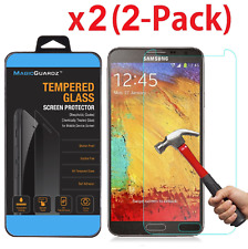 2X  Premium Real Tempered Glass Screen Protector for Samsung Galaxy Note 3