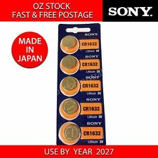 5x SONY CR1632 3v lithium Battery button cell/coin for watches remote- FAST POST