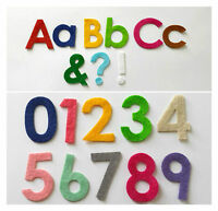 Iron on Die Cut Felt Letters, Numbers, Punctuation marks for crafts (Any 10)