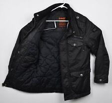 Schott NYC Men's Sz Small Black Wax Army Type Garment Hooded MA-7 M85 Jacket
