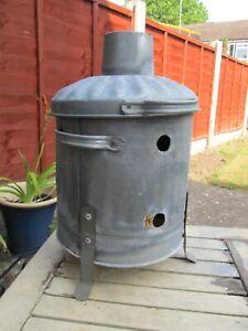 Vintage Original Garden Small Fire Bin Ideal Planter only 44cms tall