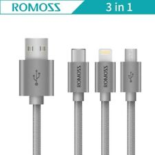ROMOSS 3-in-1 Charger / Data Cable - Type-C, Lightning & Micro USB - BNew - Auth