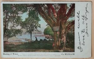Postcard- Meeting of Waters, Avoca, County Wicklow, Ireland 1900s undivided back