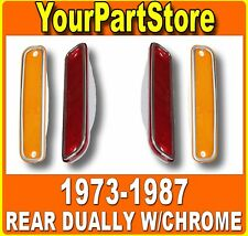 73-87 CHEVY GMC PU Pickup TRUCK DUALLY REAR FENDER SIDE MARKER LIGHTS Lamp SET