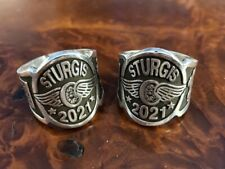 Gunther Grant STURGIS 2021 Cigar Band Ring Sterling Silver USA (a2)
