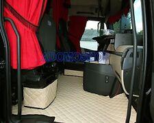 LKW KUNSTLEDER FUßMATTEN für MERCEDES ACTROS MP4 mit Sitzsockelverkleidung Beige
