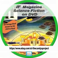 IF Comic Magazine Science Fiction Pulp Galaxy Alien Space Hugo Awards PDF DVD