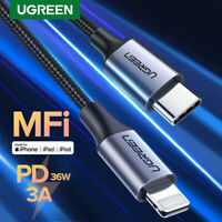 Ugreen USB C to Lightning MFi Cable Braided TypeC Fast PD Charger Data Sync Cord