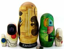 Russian nesting HAND PAINTED DOLLS 5 W Kandinsky Composition Gloomy Situation