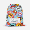 Personalised Superhero Superheros Kids Swimming School Children's Drawstring Bag