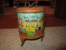 J. Chein Vintage Three Little Pigs Tin Toy Washer!!