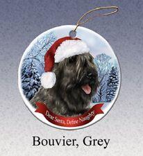 Define Naughty Ornament - Grey Bouvier des Flandres