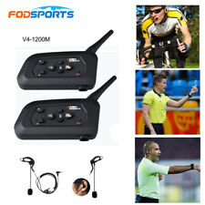 2X V4 Bluetooth Intercom Earhook Earphone Motorcycle Headset for Referee Judge
