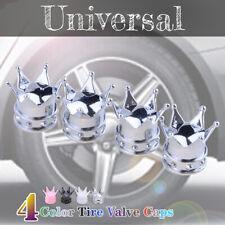 4 PCS Tire Wheel Tyre Valve Stem Caps Set Air Dust Cover Caps Chrome Crown