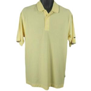 NWT NIKE DRI-FIT GOLF Yellow & Black Short Sleeve Polo Shirt Men's Size Small