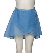 Girls Ladies Dance Ballet All Colours Wrap Over Chiffon Tie Skirt By Katz KDGS04