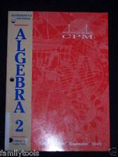 CPM College Preparatory Mathematics Vol2 Algebra 2 11th grade 11 Homeschool MATH