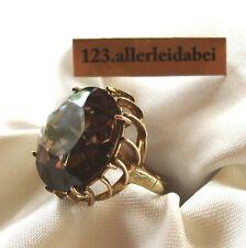 Riesiger  Rauchquarz Ring 333 Gold Handarbeit  RW 53 Fingerschmuck / Z 047
