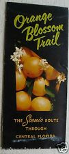 Vintage Brochure~ Orange Blossom Trail Scenic Route Through Central Florida 50's