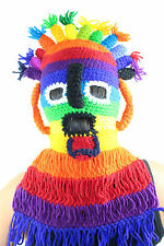 Aya Huma Festival Mask Double Side Beanie Hat Costume Party Made In Ecuador