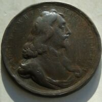 17thC Medal, Death of Charles I Executed 51mm 50.55g, worn