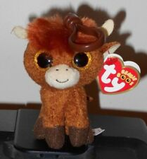 Ty Beanie Boos Key Clip ~ ANGUS the Scottish Highland Cow ~ 2018 NEW IN HAND