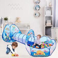 3in1 Ocean Spielzelt + Tunnel + Tasche Kinderzelt Spielhaus Babyzelt DE