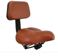 NEW BEACH CRUISER BICYCLE SEAT WITH BACK REST BROWN FOR ANY BIKE