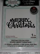 """CREATIVE EXPRESSIONS """"MERRY CHRISTMAS"""" CED3086 PHRASE HOLIDAY CHRISTMAS CARDS"""
