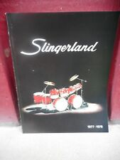 VINTAGE MUSICAL INSTRUMENT CATALOG #10002 - 1977 SLINGERLAND DRUMS PERCUSSION