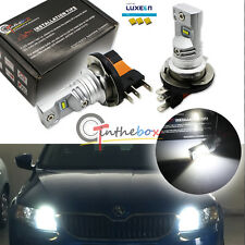 2x White H15 LED Bulb For Audi BMW Benz VW For Daytime Lights Philips Luxen LEDs