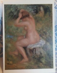 PIERRE-AUGUSTE RENOIR Nude National Gallery ART PRINT Post CARD Painting
