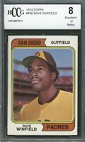 1974 Topps #456 Dave Winfield Rookie Card BGS BCCG 8 Excellent+