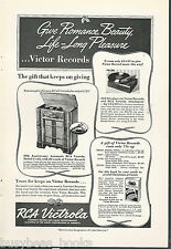 1938 RCA VICTOR advertisement, U-125 Phonograph & Victrola Attachment