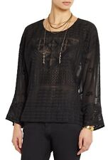 NWT ISABEL MARANT $1,460 Alva Embroidered Silk-Georgette Blouse Top - 36
