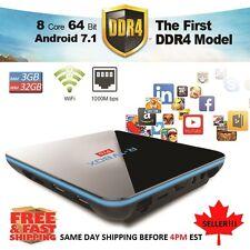 NEW 2018 DDR4 Android 7.1 3GB+32G TV BOX S912 Octa Core 4K 3D Krypton w/KEYBOARD