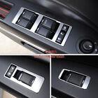 Matt Chrome Door Window Switch Button panel cover trim For jeep compass 2009-15