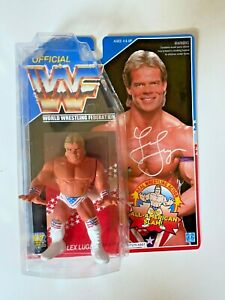 WWF WWE CUSTOM HASBRO LEX LUGER USA CARDED WRESTLING ACTION FIGURE MATTEL RETRO