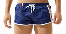 Men's Large Navy Blue Sexy Nylon Sports Running Shorts Beachwear Swimwear UK