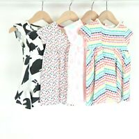 Girls T-Shirt Dress Bundle 9-12 Months Next Rainbow Hearts Giraffes Flowers