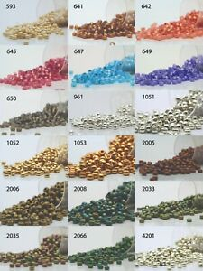 Miyuki Round Rocailles 8/0 Seed Beads - 30grs Bag Various colors - PS45