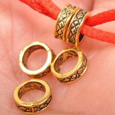 100pcs Tibetan Silver Gold Bronze Tone Tube Spacer Beads Charms  /Beads 8mm