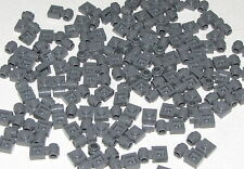 Lego Lot of 100 Dark Bluish Gray Plates Modified 1 x 1 with Clip Light Pieces