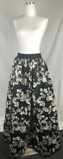 New Alice And Olivia Womens Black Long Skirt Maxi Wedding Floral Skirt Size 6 M